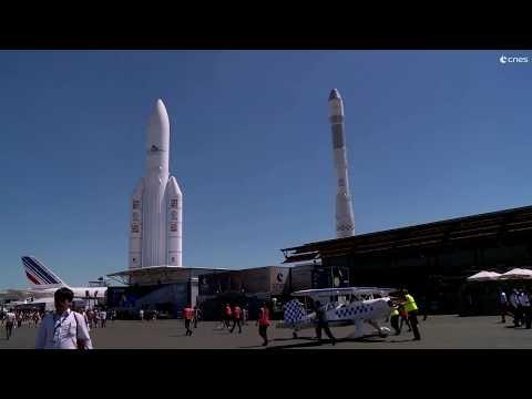 Visite du pavillon du CNES - Le Bourget 19-25 juin 2017