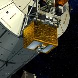 Pharao sera placée avec d'autres instruments à l'extérieur du laboratoire Columbus de l'ISS. Crédits : ESA