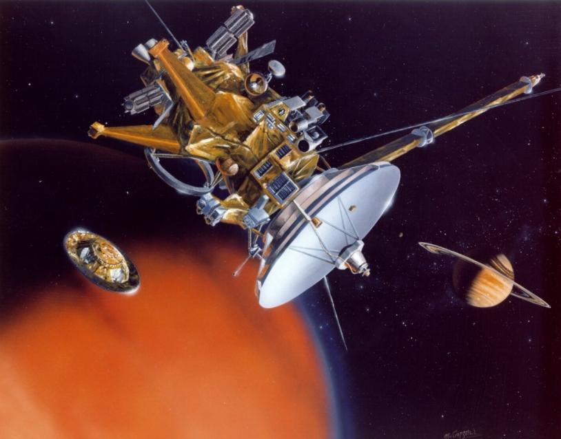Cassini et Huygens. Crédits : NASA/JPL/Caltech
