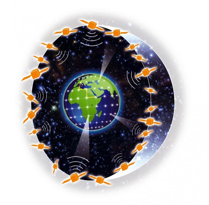 Une constellation de satellites pour donner à l'internaute une image neuve quotidienne de la Terre. Crédit : CNES.