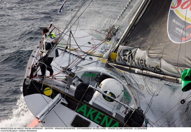 Arnaud Boissière in training for the race (22/09/08). Credits: B. Stichelbaut/Akéna Vérandas.