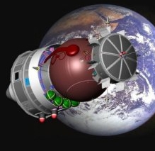 Foton capsule for the Uvolution experiment. Credits: CNES.