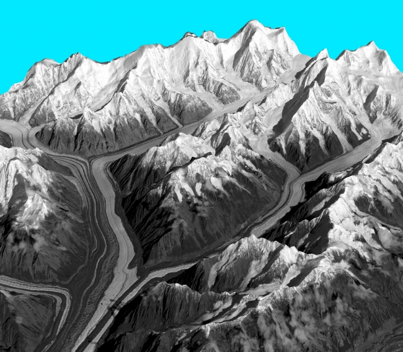 Relief in Alaska obtained with the HRS instrument on the SPOT 5 satellite. Credits: SPOT 5 HRS.