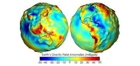 As this 3D representation of the geoid shows, Earth is not a perfect sphere. Credits: NASA