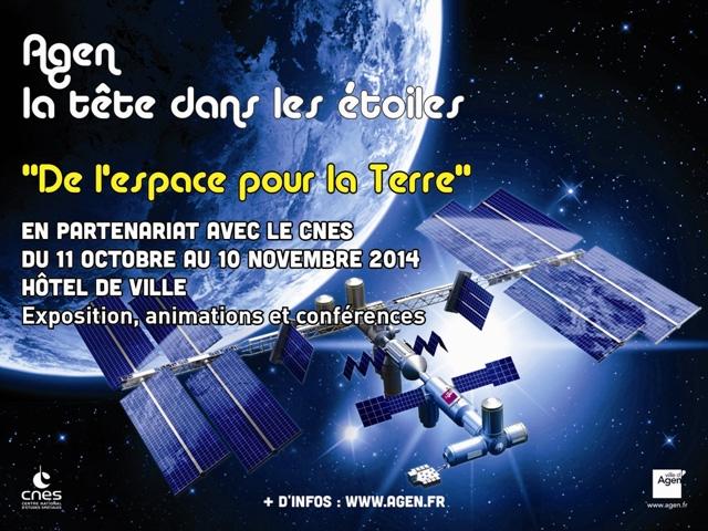 L'espace s'invite à Agen du 11 octobre au 10 novembre 2014. Crédits : Ville d'Agen.