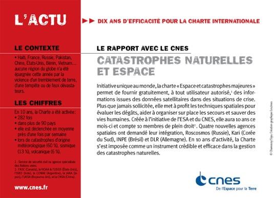L'actualité du mois vue par le CNES. Octobre 2010